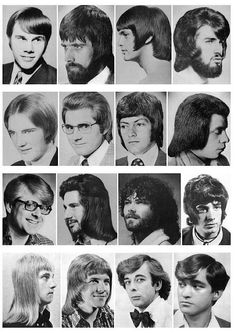 60s and 70s men's hair styles - Yikes!