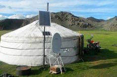 Mongolian Ger Solar Panels, Nomadic lifestyle, solar panels, solar energy, renewable energies, solar energy in Mongolia