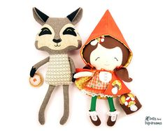 * Dolls And Daydreams - Doll And Softie PDF Sewing Patterns: Little Red Riding Hood Doll Sewing Pattern is here! Hooray!  Super Duper cute!