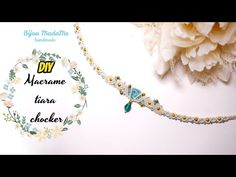Today I want to show you how to make an easy macrame choker or macrame tiara, the choice is yours. For this macrame jewelry tutorial you will. Tutorial Colar, Necklace Tutorial, Macrame Colar, Micro Macrame, Macrame Jewelry Tutorial, Diy Choker, Macrame Projects, Dainty Necklace, Crystal Drop