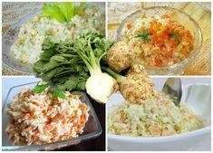 Zbierka 7 top zelerových šalátov na chudnutie a dobré trávenie. Grains, Rice, Chicken, Meat, Anna, Food, Essen, Meals, Seeds