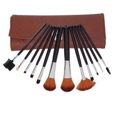 Professional 12 Pcs Makeup Make up Cosmetic Brushes Set Kit Eyeshadow Eyelash Eyeliner Eyebrow Lip Powder Blush Face Brush with Brown Wallet-style Bag Case by Crazy Cart. $9.39. Features: 1. The makeup brush set is easy to carry and use 2. With superior-quality, the makeup brushes in the set will not irritate your skin 3. Durable unique packaging can well protect your makeup brushes 4. It is an important beauty essential for you 5. Handle made of plastic and a...