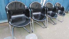 Set of 4 1970's Haimi 419 Finnish Chairs by Yrjö Kukkapuro by EraBrighton on Etsy https://www.etsy.com/listing/213990631/set-of-4-1970s-haimi-419-finnish-chairs