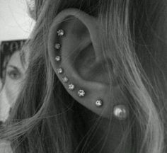 I wanted to do this! but my ears fold right after the third hole so I had to settle for 2nd and third hole piercings.