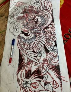 japanese tattoos designs and meanings Japanese Pheonix Tattoo, Japanese Tattoo Art, Japanese Tattoo Designs, Japanese Sleeve Tattoos, Japanese Art, Phoenix Tattoo Sleeve, Phoenix Bird Tattoos, Phoenix Tattoo Design, Japanese Phoenix