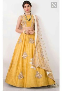 Buy Kings Fashion Bazaar Women's Silk Semi-Stitched Lehenga Choli Size) online in India at best price.yellow art silk embroidered A-line lehenga choli set Brand Name : fabdiwa fashion Product Descriptio Yellow Lehenga, Red Lehenga, Lehenga Choli, Bridal Lehenga, Raw Silk Lehenga, Anarkali Dress, Sabyasachi, Indian Wedding Outfits, Indian Outfits