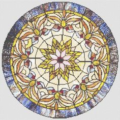 Cross Stitch Patterns - Stained Glass - Victorian STAINED GLASS #2 - CROSS STITCH PATTERN