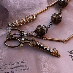 Rhinestone Scissor Bracelet One Of A by TheBohemianGypsy on Etsy, $59.00