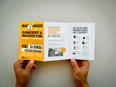 Flyer & Poster - Concert & March for Quality Education by Gillian Benjamin, via Behance
