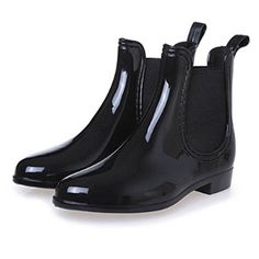 Saguaro 2019 New Rubber Boots For Women Pvc Ankle Rain Boots Waterproof Trendy Jelly Women Boot Elastic Band Rainy Shoes Woman Rainy Shoes, Ladies Wellies, Zapatillas Slip On, Wellies Rain Boots, Women's Boots, Rock Boots, Chelsea Shoes, Rain Boots Fashion, Low Heel Ankle Boots
