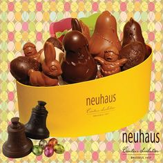 What better way to start Spring than with our trendy new Easter hamper filled with chocolate goodies? #neuhaus #easter #chocolate