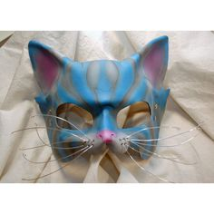 Ready To Ship -- Cheshire Cat Leather Alice in Wonderland Cosplay... ($75) ❤ liked on Polyvore featuring masks