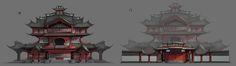 古建筑, Yue Wang on ArtStation at https://www.artstation.com/artwork/-2c157bb5-3945-4fe6-8e0d-6a354b9d1538
