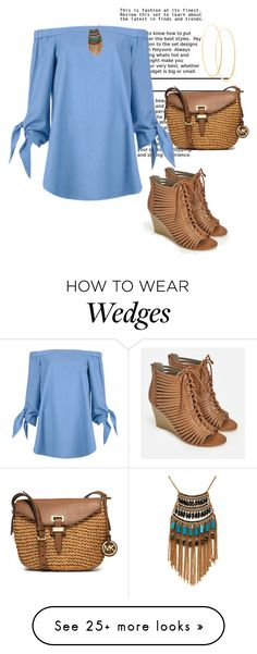 """""""Untitled #3140"""" by janicemckay on Polyvore featuring TIBI, MICHAEL Michael Kors, JustFab, Lana and Leslie Danzis"""