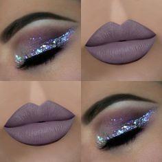 make up guide Big lips and glitter make up glitter;make up brushes guide;make up samples; Khol Eyeliner, Eyeliner Hacks, Glitter Eyeliner, Glitter Lips, Glitter Heels, Skin Makeup, Eyeshadow Makeup, Beauty Makeup, Glam Makeup
