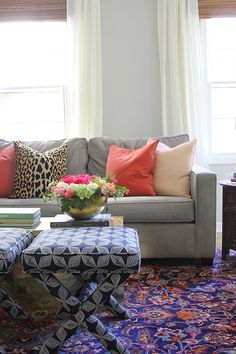 Summer Home Tour - Mixing Color & Pattern
