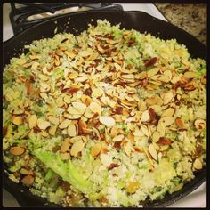 @snickle77 - @wholelifechallenge cauliflower rice with cabbage, onions, celery, golden raisins, almond, fresh sage and thyme courtesy of Clean Plate Chef's recipe. #wlc #wholelifechallenge #paleo #cleaneating