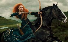 Jessica Chastain as Merida from Brave  World renowned photographer Annie Leibovitz has been capturing shots of celebrities as popular Disney characters for years, as part of her ongoing collection of Disney Dream Portraits. The latest addition to her portfolio of work is Academy Award nominated actress Jessica Chastain as the fiery-haired Merida from the animated feature film Brave. Leibovitz's series takes beloved cartoon characters from the classic Disney films and transforms them into…