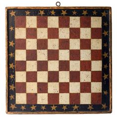 c. 1870....red, white and blue with gold stars gameboard...love...