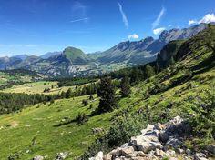 Panorama du massif du Dévoluy, été 2016 - Photo : Léa (IG)