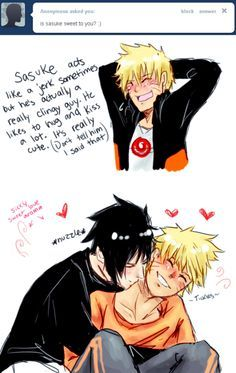 Walks like a jerk, talks like a jerk its a jerk but not in Sasu's case he's apparently very clingy and sappy Naruto can Vouch for him SasuNaru Yaoi