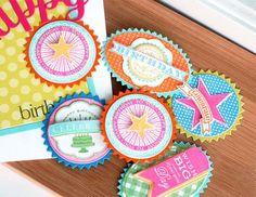 PTI embellishments birthday masculine feminine