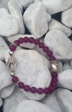 Purple jade with fatima hand