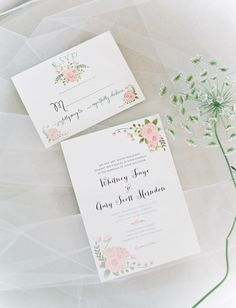 Sweet wedding stationery. Lowcountry Wedding by Red Letter Events « Southern Weddings Magazine
