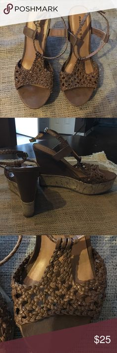 Madden Girl wedges These Madden Girl wedges have been worn 2 times and are in great condition! They match with many dresses and are great for spring or summer! Madden Girl Shoes Wedges