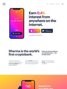 Dharma landing page design inspiration - Lapa Ninja Best Landing Page Design, Landing Page Examples, Best Landing Pages, App Landing Page, Web Design, 2020 Design, Design Trends, Design Ideas, Graphic Design