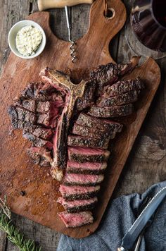 A Grilled T-Bone Steak is an amazing meal. Join as as we explain the difference between a T-Bone and a Porterhouse, and the best way to cook T Bone steaks. Cooking T Bone Steak, Cooking The Perfect Steak, How To Grill Steak, Beef Steak, Steak Recipes, Grilling Recipes, Crockpot Recipes, Cooking Recipes, Grilled T Bone Steak