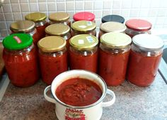 Cookbook Recipes, Cooking Recipes, Food Decoration, Preserving Food, Marmalade, Greek Recipes, Tomato Sauce, Preserves, Salsa