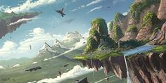 Oh my! I want to pin every single picture in this gallery. Lost in these landscapes! - Fantasy Artworks by Frank Att