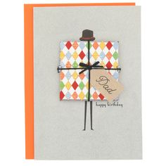 'in with the new present man' birthday card from Paperchase