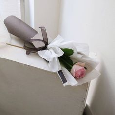 Flower Wrap Single Rose