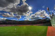 Ah, just another beautiful day at Fenway Park