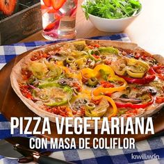 Vídeo de Pizza Vegetariana com Massa de Couve-Flor, Healthy Lunches For Work, Healthy Snacks, Healthy Recipes, Easy Skillet Meals, Easy Meals, Pizza Vegetal, Pizza Vegetariana, Vegetable Pizza Recipes, Vegetarian Breakfast Recipes