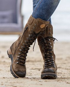 Apr 2020 - Whether you're scrambling over rocks or pounding the pavement, these hiking-inspired, fashionably stylish lace-up boots won't let you down. Shop now. Hiking Boots Outfit, Hiking Boots Women, Hiking Dress, Boho Boots, Lace Up Boots, Cowgirl Boots, Black Boots, Brown Heeled Boots, Brown Combat Boots