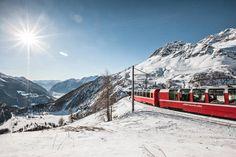 Bernina Express mit Aussicht ins Puschlav
