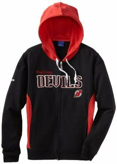 NHL New Jersey Devils Full Zip Hoodie, X-Large by Reebok. $36.23. Reebok New Jersey Devils Ladies Core Full Zip Hoodie - Black/RedQuality embroideryElastic cuffs and waistTwo front pocketsOfficially licensed NHL productImported60% Cotton/40% PolyesterFull zip hoodieTwill applique letteringHood with drawstring60% Cotton/40% PolyesterOfficially licensed NHL productHood with drawstringFull zip hoodieTwill applique letteringQuality embroideryTwo front pocketsElastic...