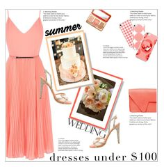"""""""Summer Wedding: Dress Under $100"""" by atelier-briella ❤ liked on Polyvore featuring Aperlaï, Victoria Lam and Too Faced Cosmetics"""