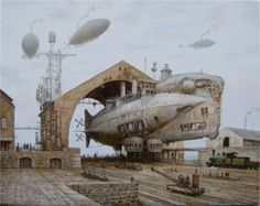 Thunderer: Iron-clad dirigible by Vadim Voitekhovitch, [Deviant Art]