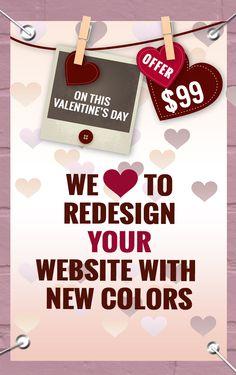 Valentine OFFER WEBSITE Redesign at $99