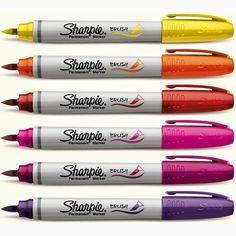 discount art Sharpie Brush Tip Markers - J - Brush Tip Markers, Sharpie Markers, Sharpies, Brush Pen, Arte Sharpie, Sharpie Paint, Paint Pens, Discount Art Supplies, Stabilo Boss
