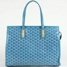 Sac à Main Goyard 00317 bleu clair 1.Marque  : goyard 2.Style  : Sac à Main Goyard 3.couleurs : Bleu Clair 4.Matériel :PVC avec cuir 5.Taille: W40cm×H28cm×D13cm