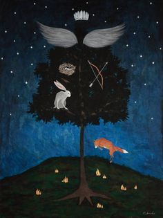 "Saatchi Art Artist Rebecca Rebouche; Painting, ""Defense for Man"" #art"