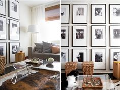 Stealing the picture frame wall idea. Ambiance