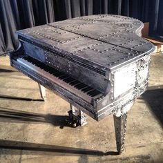 Custom John Varvatos Baby Grand Piano designed for the Sing for Hope project!
