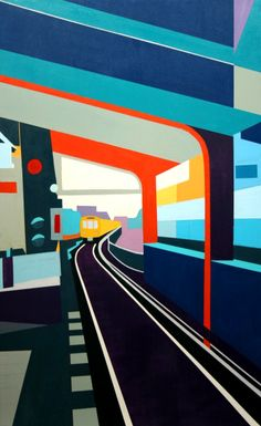 Urban Abstract Cityscapes - Paintings by Carolin Rutsche_Current Work