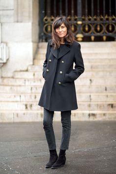Emmanuelle in all black
